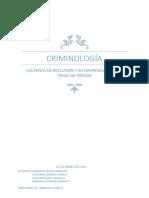 Diferencia Entre La Pena de RECLUSION y PRISION en El Código Penal Argentino