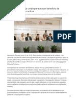 10-06-2019 Se Fortalece Trabajo Unido Para Mayor Beneficio de Sonorenses Gobernadora-Canal Sonora