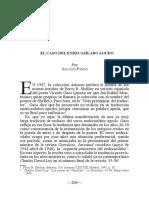 El caso del endecasílabo agudo, Arcadio Pardo