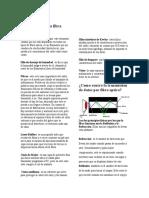 Estructura de una fibra óptica
