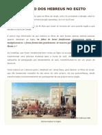 Antigo Egito - A Escravidão Dos Hebreus No Egito - 24-12-2017