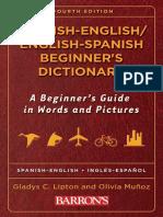 Spanish English English Spanish Beginners Dictionary