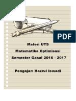 Materi UTS Mat Opt Gasal 2016-2017