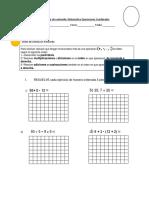 Evaluación de Contenido matematica 5 basica