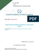 Black Sea Littoral Military Operations - Environment Impact