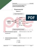 Trigonometría Pre SM