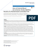 Early Manipulation of Arterial Blood MAPAS