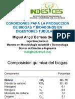 CONDICIONES PARA PRODUCCION DE BIOGAS.ppt