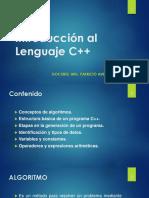 S02 - Introducción al Lenguaje C++