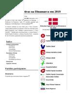 Eleições Legislativas Na Dinamarca Em 2019