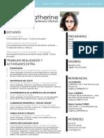 Curriculum Vitae Catherine Cárdenas
