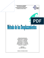 Método de Los Desplazamientos (Con Manual de La Hp 50g y Excel)
