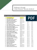 Daily Wlak Bible Reading Plan