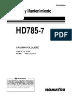 Manual de mantenimiento Camion Komatsu HD785-7