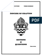 Motions & Questions for Grafton Synod 2019