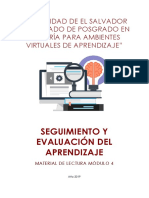 Material de Lectura Seguimiento y Evaluación Del Aprendizaje