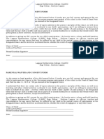 Parental Waiver and Consent Form