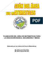 Plan de Área de Matemáticas