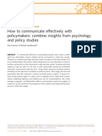 How to Communicate Effectively With Policymakers - Combine Insights from Psychology and Policy Studies.pdf