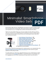 Minimalist Smartphone Video Setup