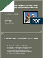 Exposicion Planeamiento y Organizacion de Obra