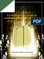 La Recitation Du Coran en Meditant Ses Versets