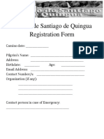 Camino Registration Form