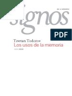 Tzvetan Todorov (2013) - Los Usos de La Memoria