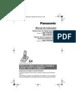 Manual Do Telefone Panasonic KX TG7511LBB
