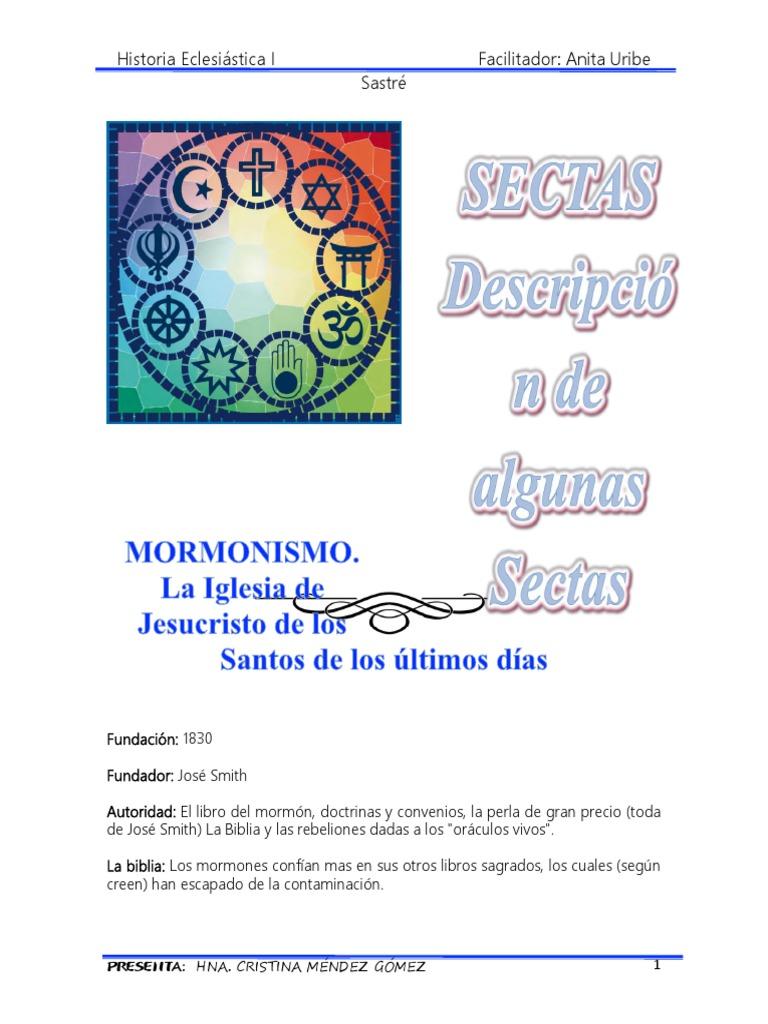 Sectas Book Of Mormon El Libro De Mormón Iglesia Católica