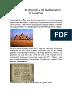 Evolución de La Geometría y Sus Aplicaciones en La Actualidad