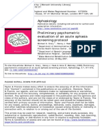 Acute Aphasia Screening Protocol (AASP)