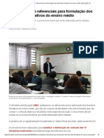 MEC Estabelece Referenciais Para Formulação Dos Itinerários Formativos Do Ensino Médio _ Educação _ G1