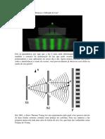 """Física Moderna – """"Interferência e Difração de Luz"""""""