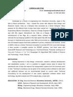 Bio Data - Dr Elangovan