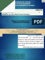 Unidad 2analisis de Decisiones 2019