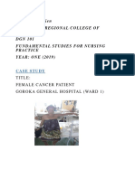 Case Study of the Female Patient With Cancer