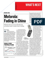 Motorola Fading in China