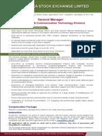 Dhaka Stock Exchange Ltd DSE Job Circular 2019