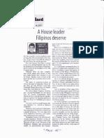 Manila Standard, June 18, 2019, A house leader Filipino deserve.pdf