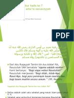 Tadabbur Hadis Ke 7 Al Arba'in Annawawiyah 20092018-Y