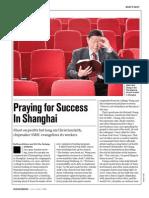 Praying for Success in Shanghai