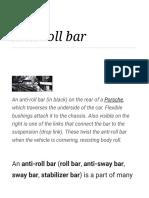 Anti roll bar
