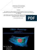 LSB231.1 Cellular Physiology Student Version Slides