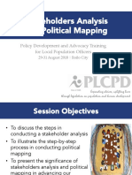 04 Stakeholders Analysis and Political Mapping