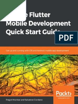 Packt google flutter mobile development quick start guide