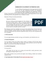 How to Write Impressive Statement of Purpose (Sop)