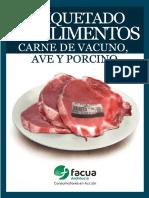 Etiquetado de Alimentos- Carne-facua