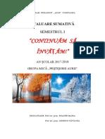Evaluare Sumativa- Grupa Mica- Proiect Tematic