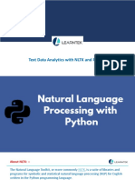 Text Data Analytics With NLTK and PYTHON